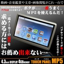 DT-SP15 4.3インチディスプレイ 4GBメモリー タッチパネルMP5