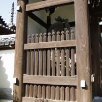 法道寺 中門 吽形像 南大阪の景色