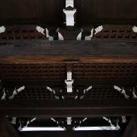 法道寺 中門 天井 南大阪の景色
